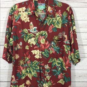 Reyn Spooner Men's Hawaiian Christmas Shirt Med